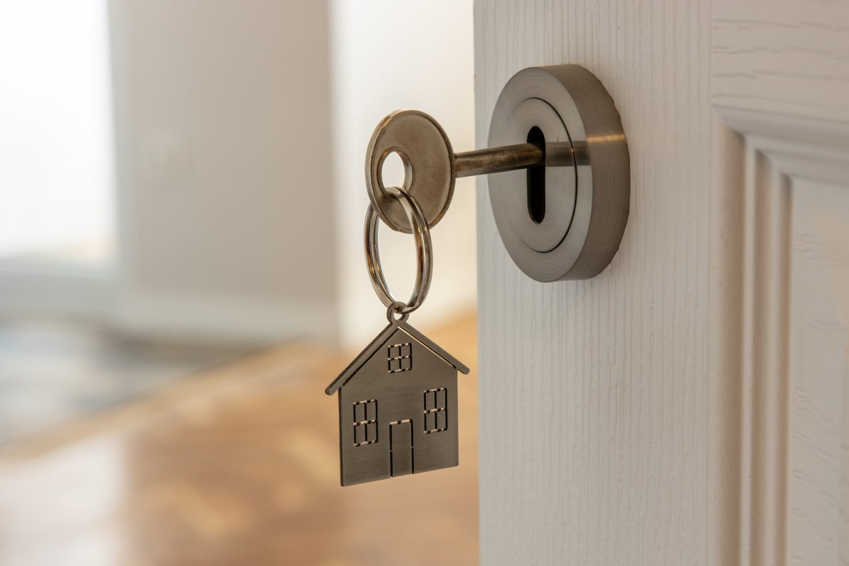 Open,Door,To,A,New,Home,With,Key,And,Home